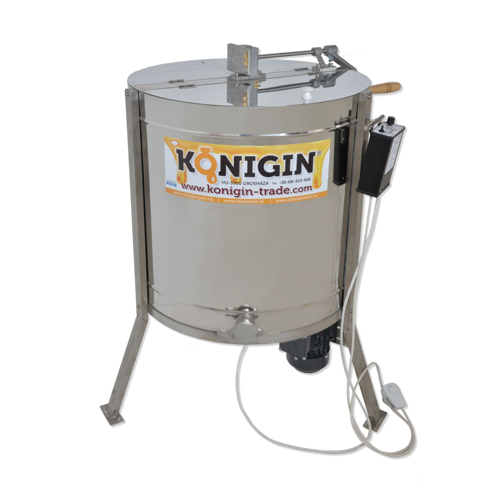 63-4-TKG 4 frames, tangential honey extractor, motor and hand drive ...